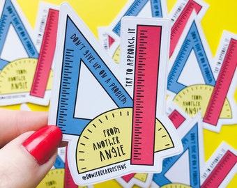 Ruler Sticker - Motivational Sticker - Positive Vinyl