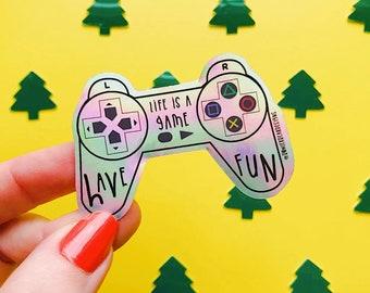 Gaming Sticker - 90's Toy Sticker - Nostalgic Christmas Sticker
