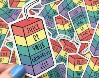 Rainbow sticker - Motivational sticker - Colourful Sticker - Mental health sticker