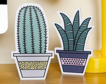Cactus plant - Desk accessory - Faux plant