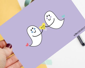 I believe in you - Positive postcard - Ghosts print