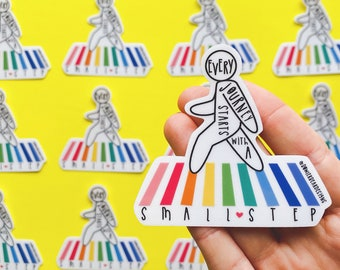 Small Step Sticker - Positive Sticker - Rainbow Sticker