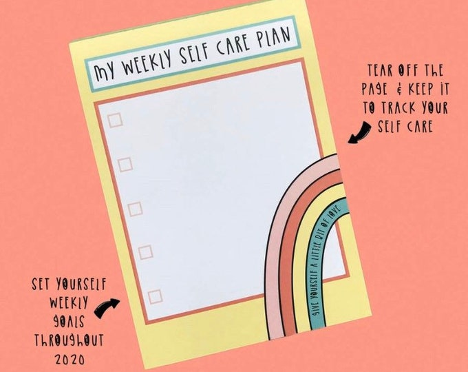 Self care notepad