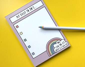 Rainbow To Do List - A6 Notepad - 50 pages - Motivational notepad