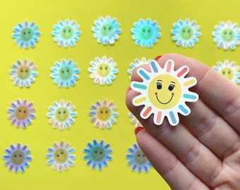 Mini Sunshine Sticker - Shiny Sticker - Happy Sticker