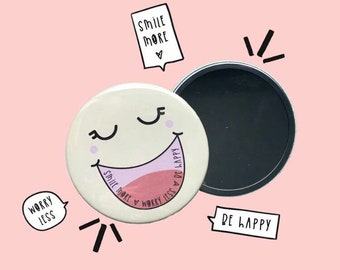 Smile compact mirror