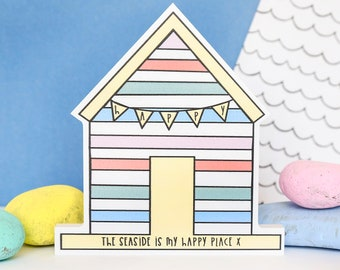 Beach hut ornament - quote sign