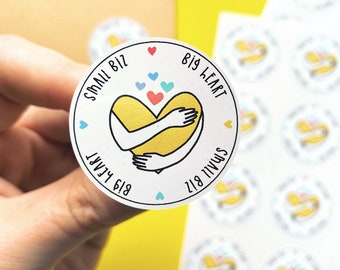 Small biz, Big heart - Small business stickers - Packaging label