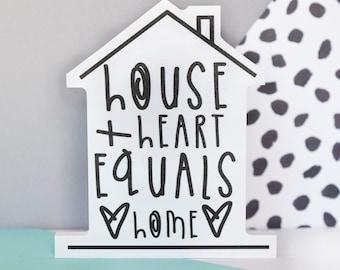 House + Heart = Home Shelfie - Freestanding decoration
