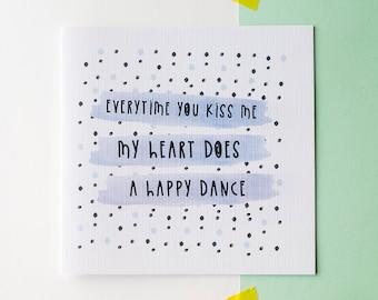 Valentines card - Romantic card - Happy Dance