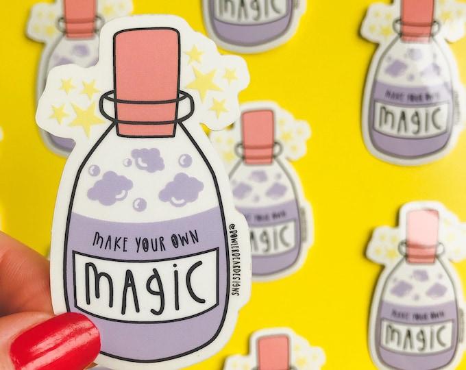 Magic Sticker - Transparent Magic potion Vinyl - Positive quote