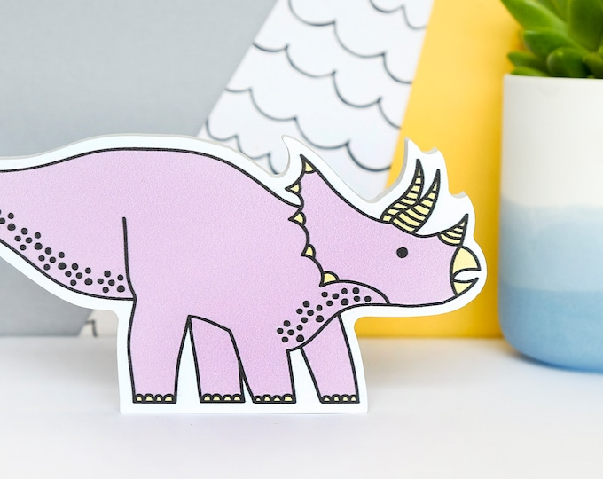Pink Dinosaur - Dinosaur gift for girls - Dino decor