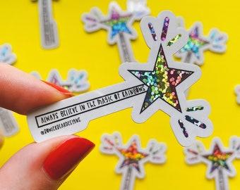 Magical Rainbow vinyl - Rainbow sticker - Motivational sticker