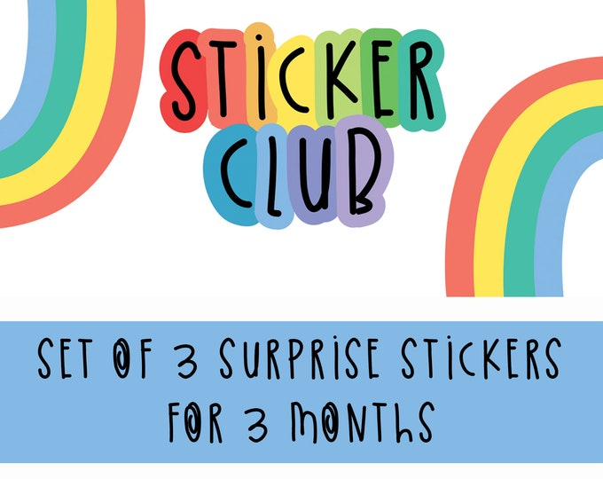 Featured listing image: Sticker Club - Surprise Vinyl Stickers - 3 Month Colourful Sticker Subscription