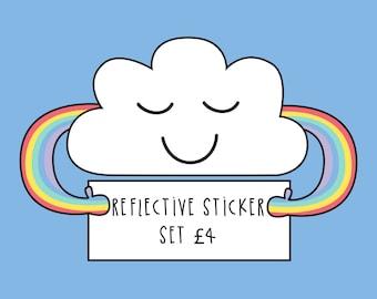 Mental Wellbeing Sticker Set - Self reflection - Daily gratitude - Rainbow Sticker set