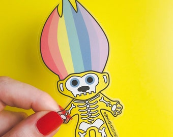 Troll Sticker - Transparent Troll Vinyl