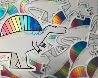 Dinosaur sticker - Dinosaur vinyl sticker - Holographic sticker - Holographic vinyl