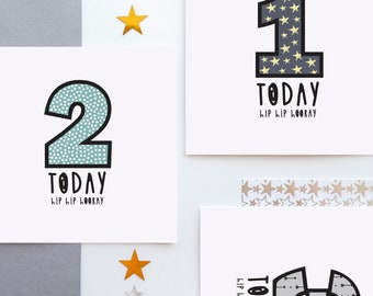 Birthday age card - Personalise me!