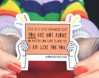 Charity Sticker - Supporting CALM - You are not Alone