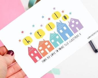 Christmas postcard - Hello postcard - Covid postcard