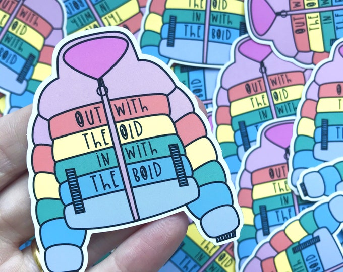 Colourful Rainbow Sticker - Rainbow vinyl  - Motivational sticker - Mental health sticker