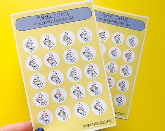 Reward Sticker sheet - A6 Yay you did it mini stickers - Teacher Stickers