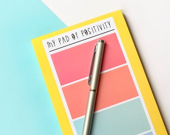 Pad of positivity- Tall rainbow notepad
