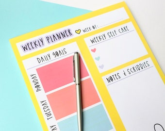 Weekly planner notepad - A4 Motivational notepad