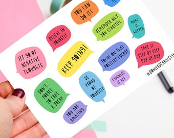 Motivational postcard! - Positive postcard - colourful illustration