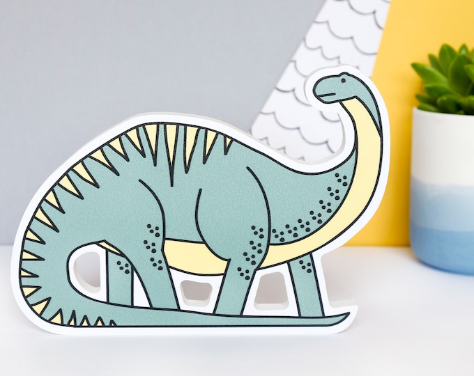 Dinosaur - Freestanding - shelf decor - Dinosaur Nursery decor