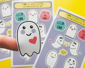 Halloween Sticker sheet - A6 Ghost Sticker sheet - Ghost Sticker
