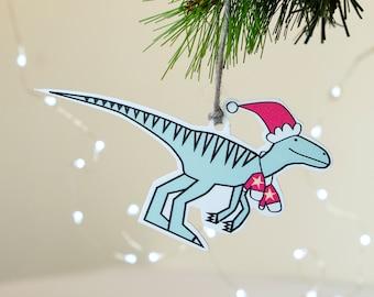 Dinosaur Christmas decoration - Raptor tree ornament - Jurassic park