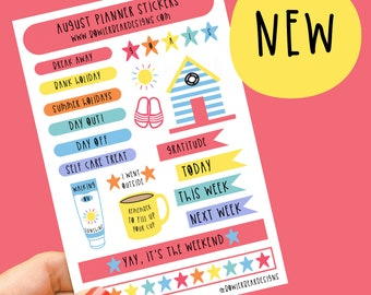 August Planner Sticker sheet - Journal Stickers