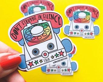 Talk Sticker - Chatty phone Sticker - Nostalgic Christmas Sticker - Mental health Sticker