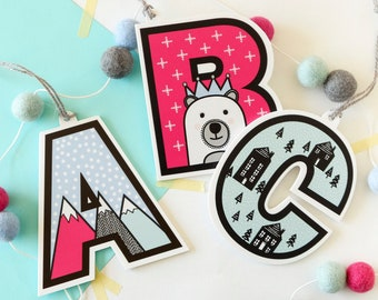 Letter Christmas tree decoration - Alphabet tree ornament - Personalised Christmas gift