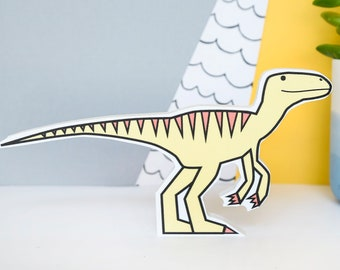 Raptor Dinosaur - shelf decor - Jurassic park