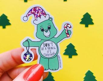 Grinch Sticker - 80's Sticker - Nostalgic Christmas Sticker