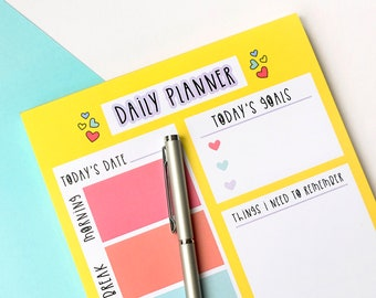 Daily planner notepad - A5 Rainbow notepad