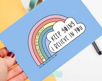 Keep Going - Positive, Motivational postcard - Postcard print