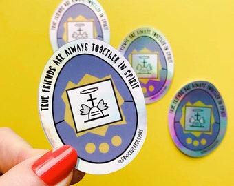 Tamagotchi Sticker - 90's Toy Sticker - Nostalgic Christmas Sticker