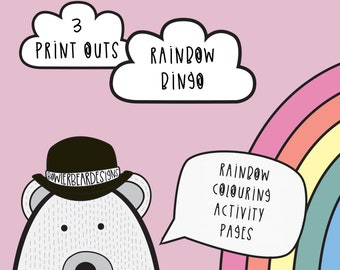 Rainbow Activity sheets - Colouring pages - digital download