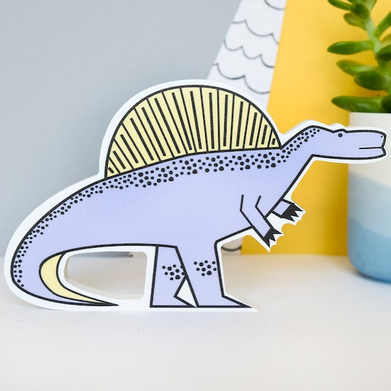 Spinosaurus - Nursery decor - Dinosaur birthday gift - Dinosaur wall art