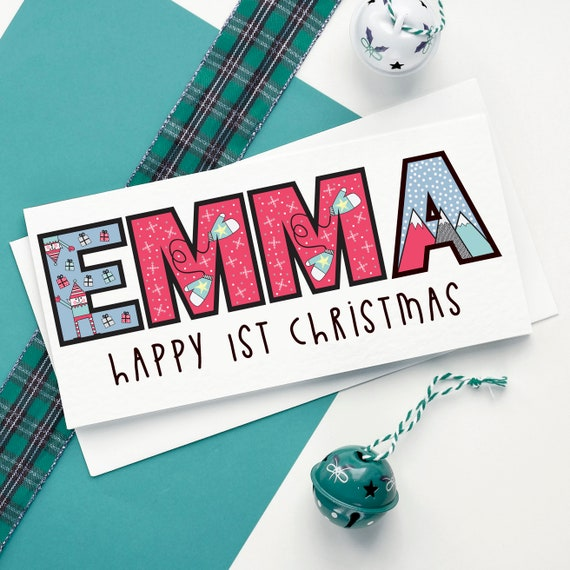 Personalised Name Christmas card.