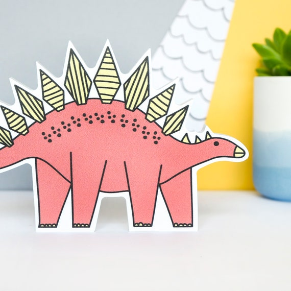 Stegosaurus - Nursery decor - Dinosaur birthday gift - Dinosaur shelfie - Dinosaur Bedroom wall art