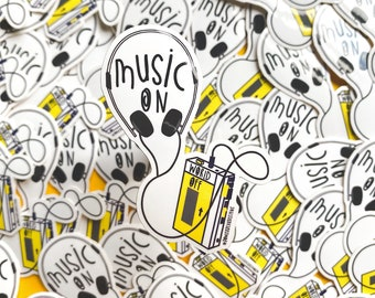 Walkman Sticker - Music Sticker - Nostalgic Christmas Sticker