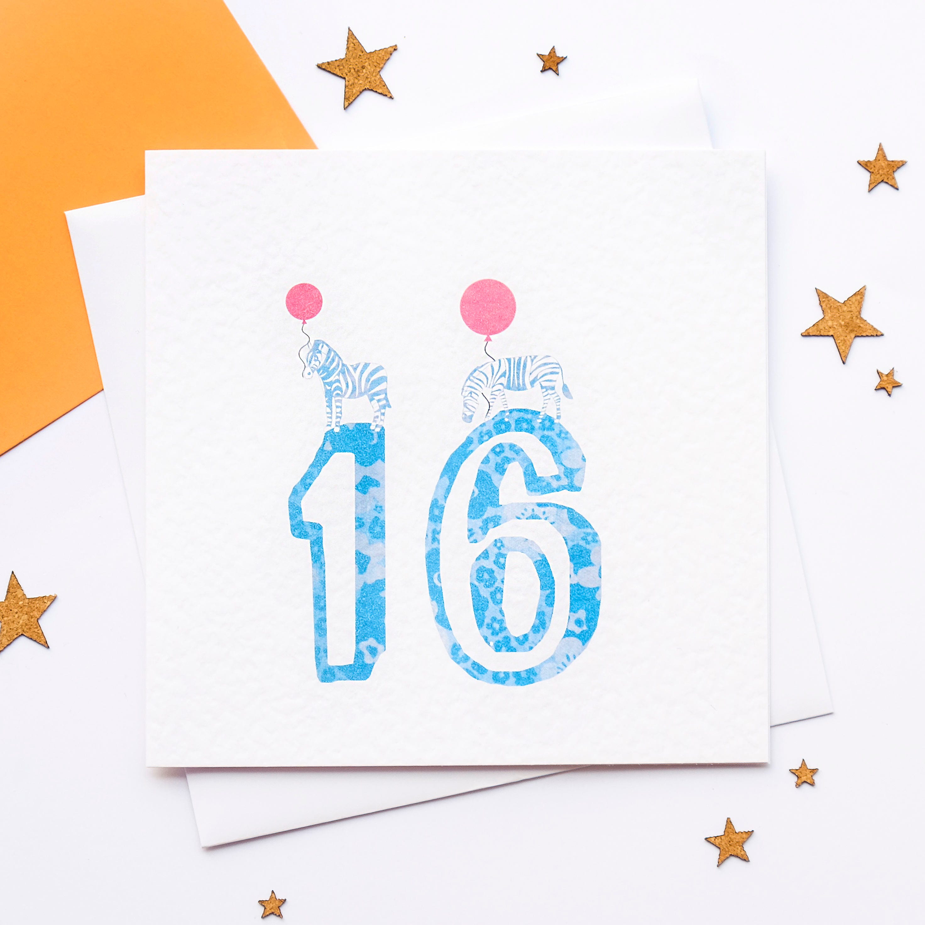 16th Birthday Card 16 Today Years Old Age Sweet Sixteenth Zebra Number Its Your Blank Inside
