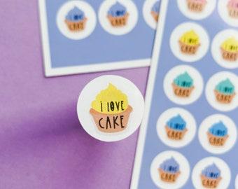 I love Cake Sticker sheet - Rainbow sheet - Planning Stickers - Daily stickers