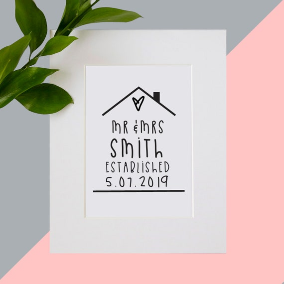 Anniversary print for home. Wedding gift. Personalise me!