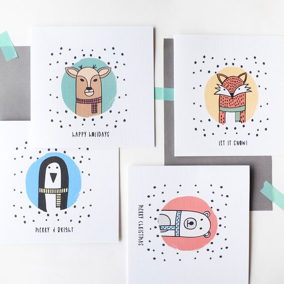 Christmas Critters Card pack.