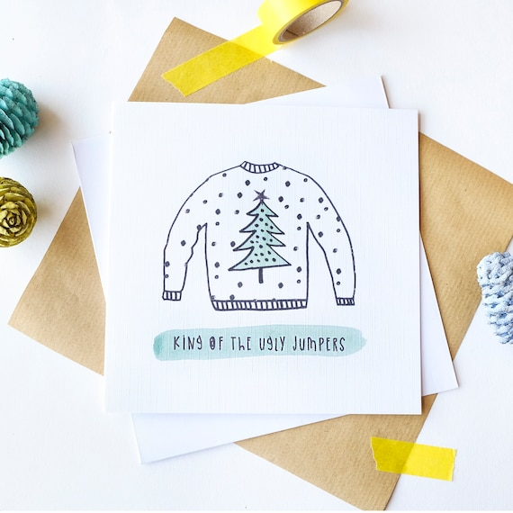 Male Christmas card - King of the Ugly Jumpers